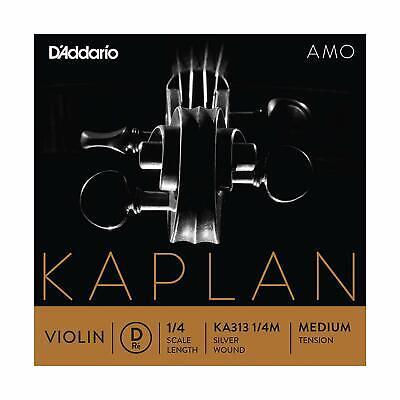 D'Addario Kaplan Amo Violin D String, 1/4 Scale, Medium Tension KA313 1/4M