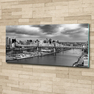 Glas-Bild Wandbilder Druck auf Glas 125x50 Deko Landschaften New York