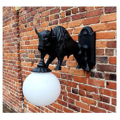 Wall Mount Buffalo Sconce Light Indoor Outdoor Non Rust Metal Western Style