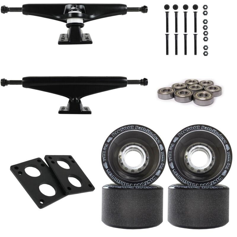 Core 6.0 Black Longboard Trucks Wheels Package Bigfoot 70mm Pathfinders Black