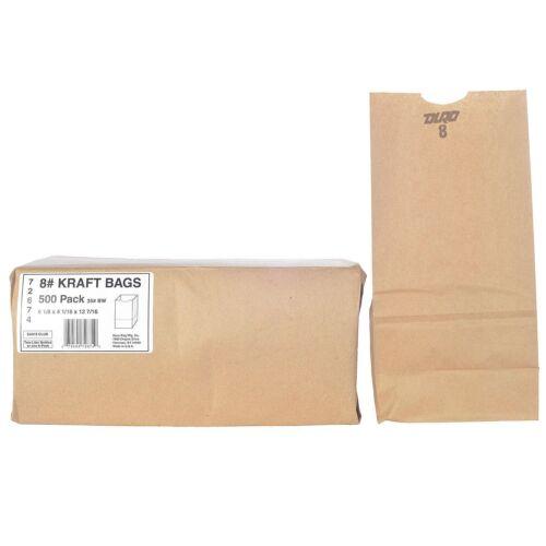 Duro Bag 8# Kraft Bags - 500 ct