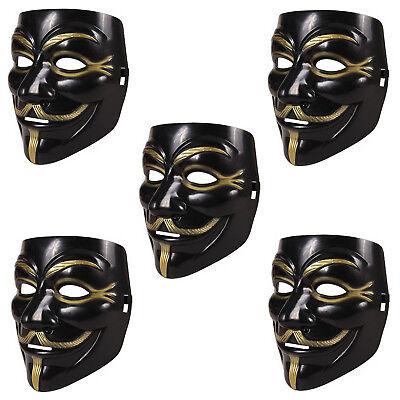 tta Maske schwarz   Anonymous Party Halloween Karneval Maske (V Halloween-party)