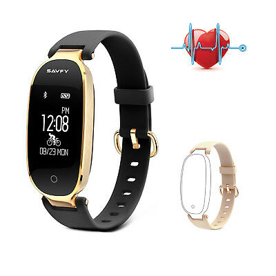 SAVFY Damen Smart Watch Bluetooth Fitness Armband Tracker Sportuhr Pulsuhr