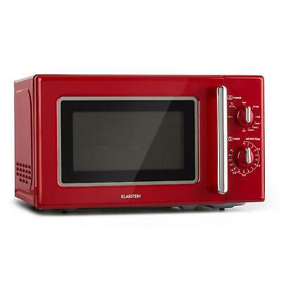 Klarstein Retro Mikrowelle 700 W Grill 1000 W Microwave 20l Timer Edelstahl rot ()