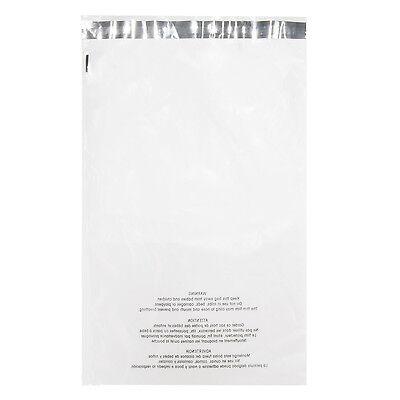12 X 18 100pcs White Light Clear Plastic Poly Mailer Bag 1.7 Mil Self Sealing