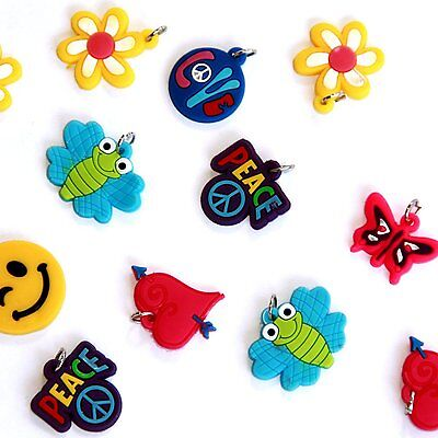 Dazzling Toys Charms for Rubberband Bracelets 12 Charms for DIY Loom Bracelets