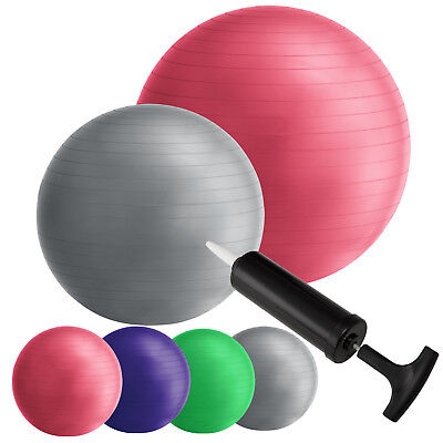Gymnastikball Fitnessball Yogaball Fitness Sitzball Pilates Yoga Ball Pumpe Neu