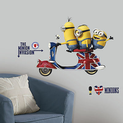 Minion Room Decor (MINIONS MOVIE Giant Wall Mural Despicable Me Room Decor Stickers Decals)
