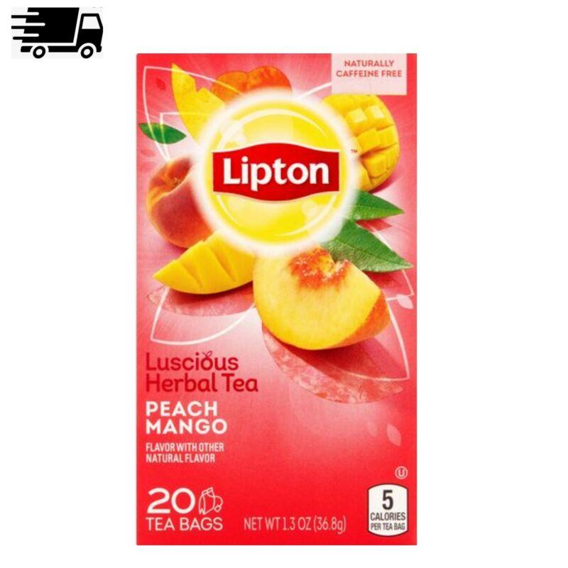 (3 Pack) Lipton Peach Mango Herbal Tea, Tea Bags, 60 Ct