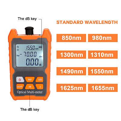 Mini Ftth Fiber Optic Optical Power Meter Cable Tester Backlight -706 Dbm B3m8