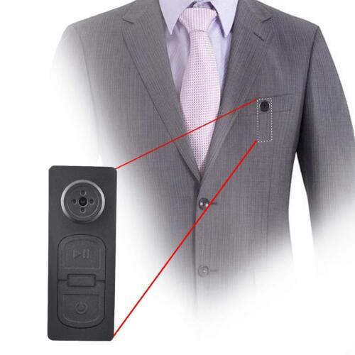 Mini Spy Hidden DV DVR HD Suit Button Camera Support 8GB 16G