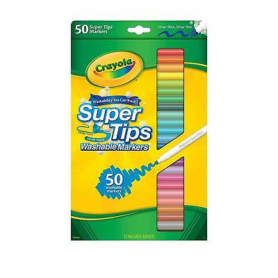 Crayola Super Tips Washable Markers 50 Pack