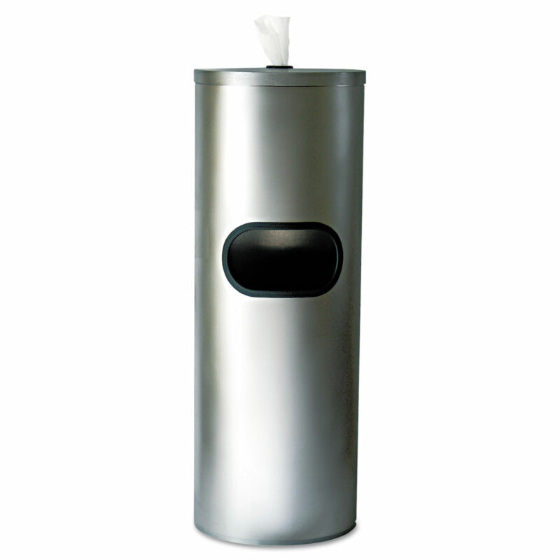 2XL Stainless Stand Waste Receptacle Cylindrical 5gal Stainless Steel L65