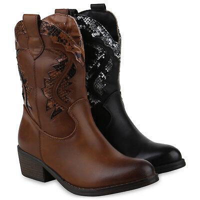 Damen Schuh Stiefel Western (Damen Stiefeletten Cowboy Boots Modische Western Stiefel 825833 Schuhe)