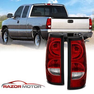 1999-2002 Red Rear Tail Lights Pair For Chevy Silverado/1999-2006 GMC Sierra
