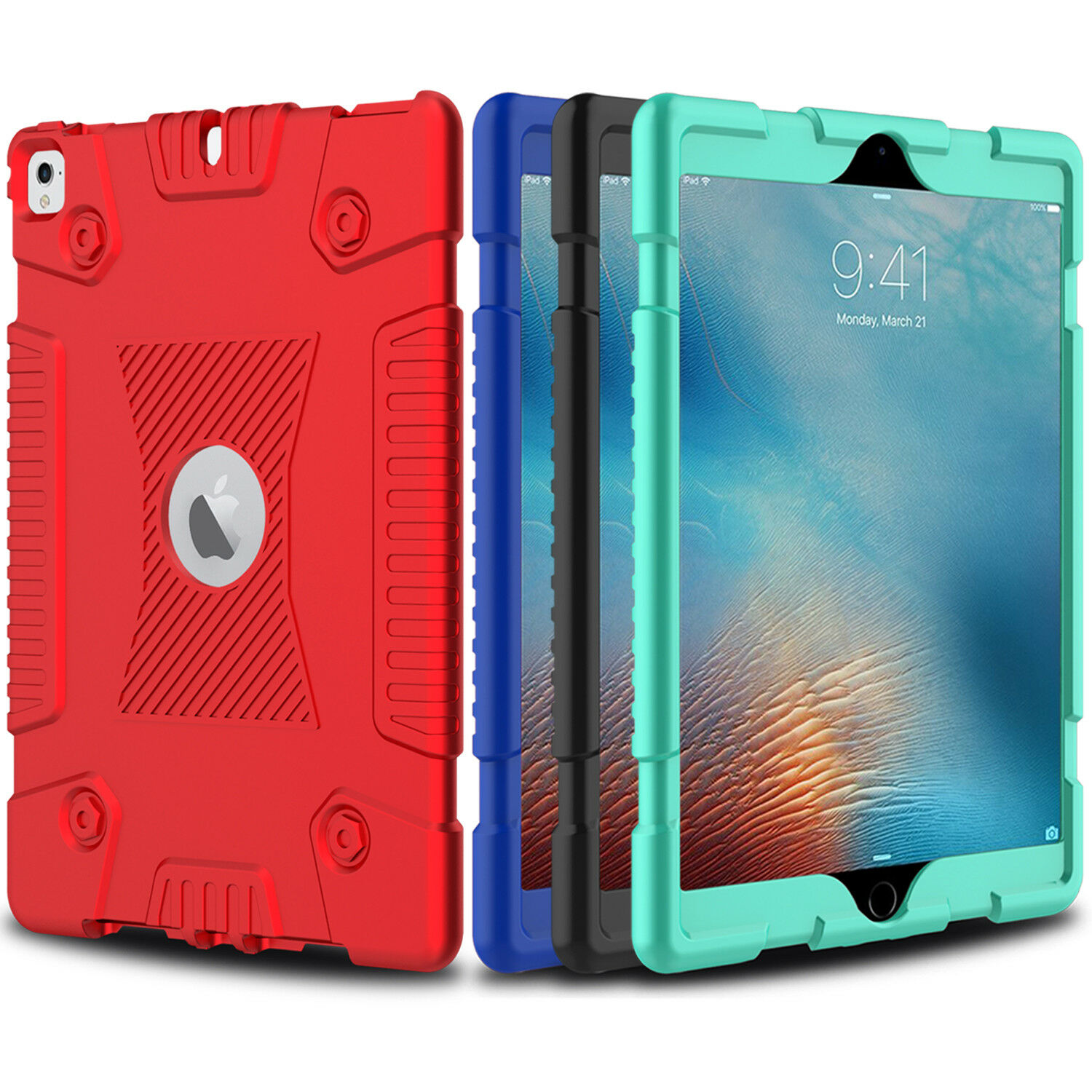 For iPad 6th Generation 9.7'' 2018 Case Hybrid Shockproof De