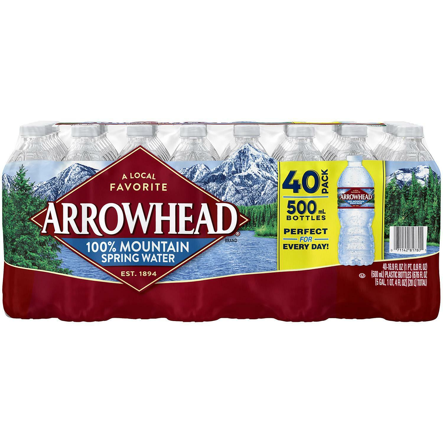 Arrowhead 100% Mountain Spring Water (16.9oz / 40pk) Food & Beverages