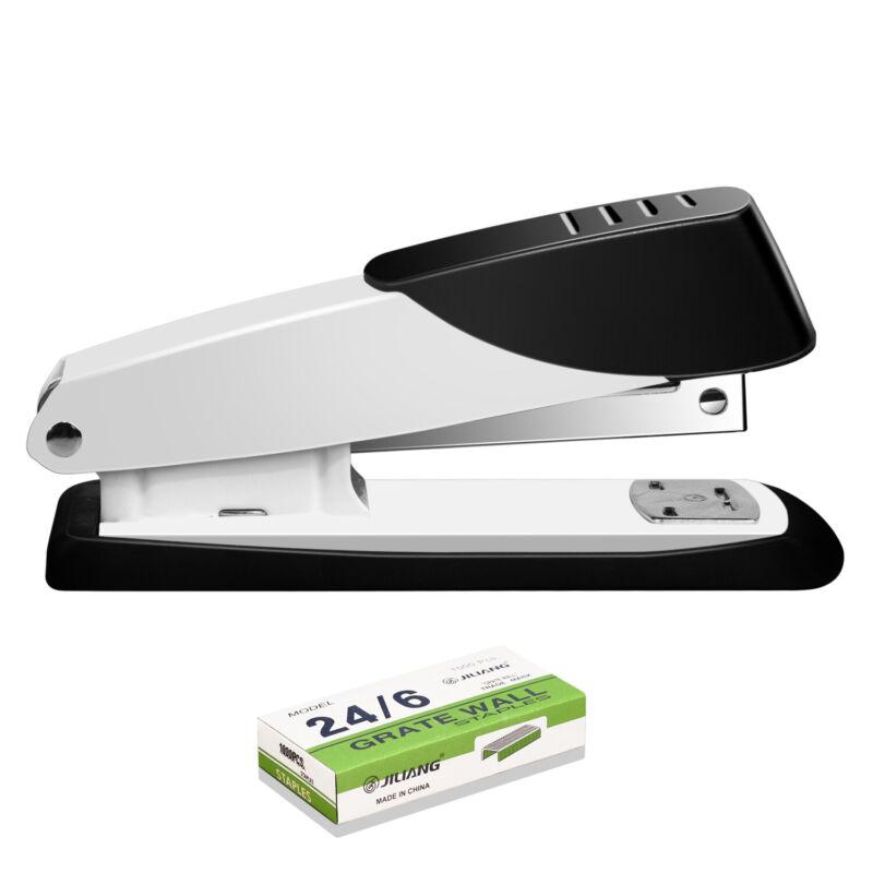 Manual Stapler with 1000 Staples for Desk Office Desktop