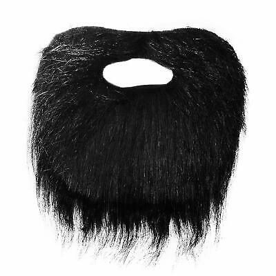 Fake Black Beard Tache False Moustache Tash Joke Pirate Elasticated Stick On