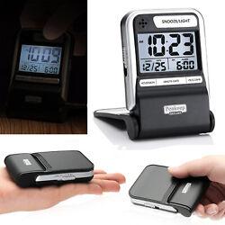 Portable Ultra Compact Battery Travel Alarm Clock Small Digital With Calendar