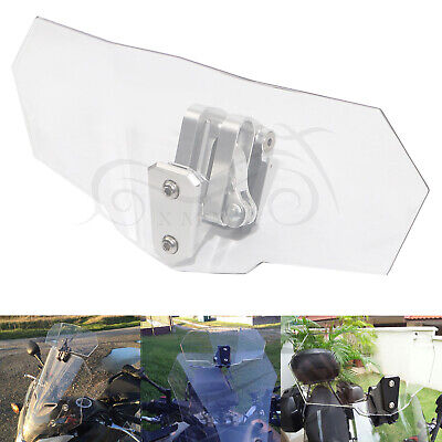 Adjustable Clip On Windshield Extension Spoiler Wind Deflector ALL Motorcycle