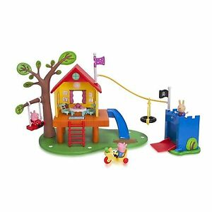 Nick Jr Peppa Pigs Treehouse And Georges Fort Playset For Sale