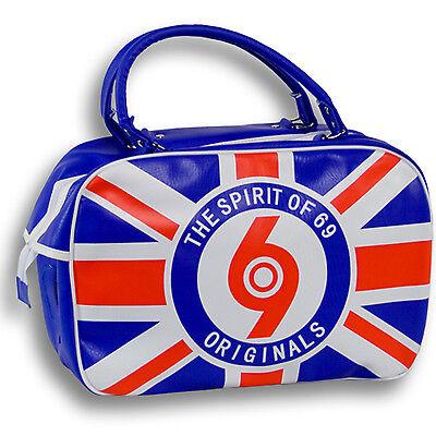 Spirit of 69 Retro Union Jack Bowling Bag Tasche Skinhead Oi Punk Mod Ska Trojan