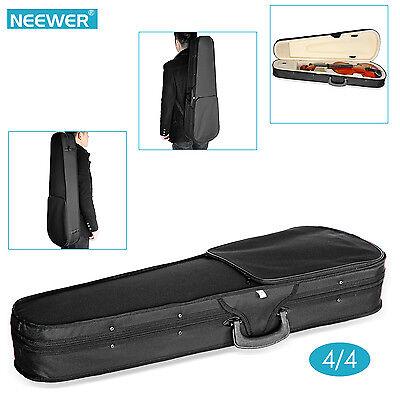 Neewer Black 4/4 Full Size Professional Triangular Shape Violin Hard Case FX#18