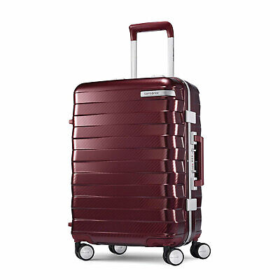 "Samsonite Framelock Hardside Carry On Luggage with Spinner Wheels 25"" Cordovan"