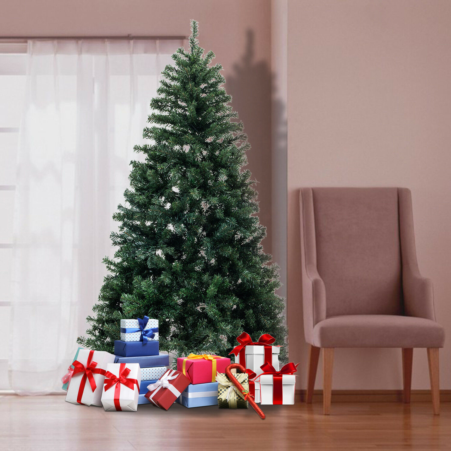 Tall Christmas Tree Decorating Ideas.Details About 6ft Artificial Green Christmas Tree Tall Decoration Holiday Festival Xmas New