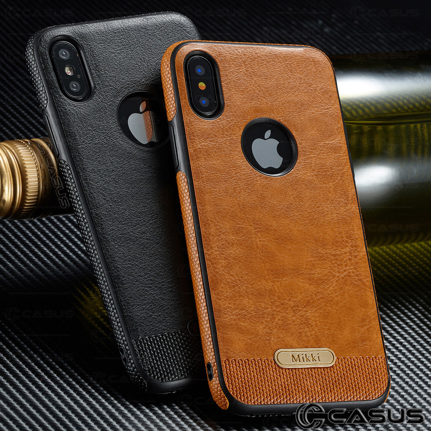 Купить SLIM Luxury Leather Back Ultra Thin TPU Case Cover for iPhone X & 8/7/6s Plus