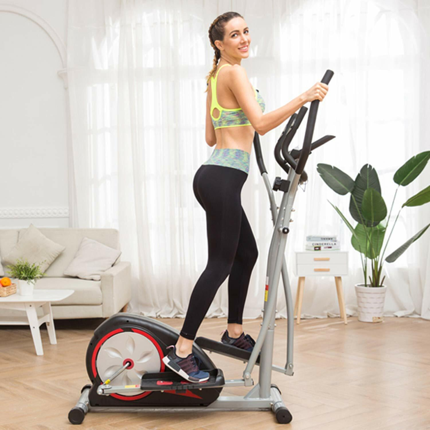 Magnetic Elliptical Exercise Training Machine with LCD Monit