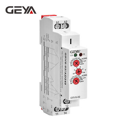 Geya Over Under Voltage Monitoring Relay Single Phase Voltage Sensitive Relay