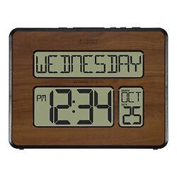 513-1419-WA La Crosse Technology 2 Numbers Atomic Digital Wall Clock - Walnut