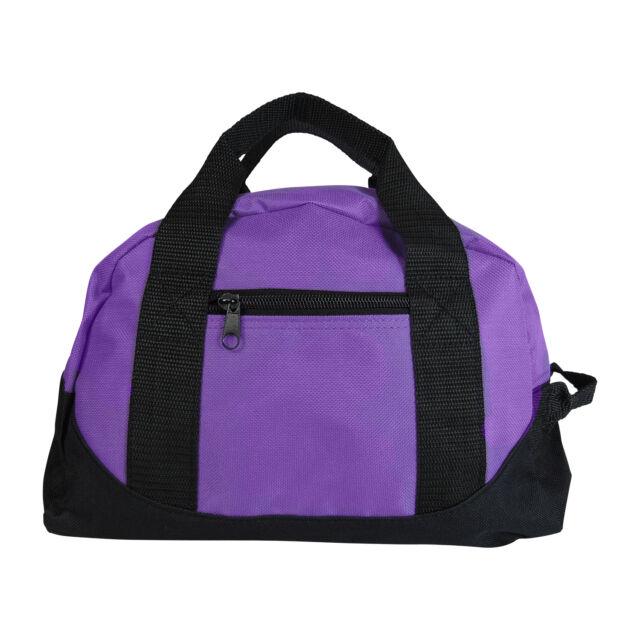 Girls Purple Duffel Bag Womens Mini Yoga Gym Sports Pilates Cute Small Carry On