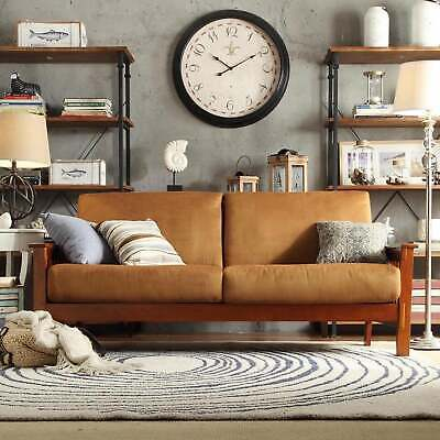 Hills Mission-style Oak Sofa by iNSPIRE Q Classic Brown