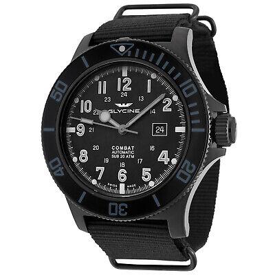 Glycine Men's 3951.999AT.N8.TB99 Combat Sub Automatic 48mm All Black - GL0098