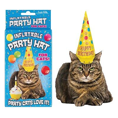 Costumes For Your Cat (Accoutrements Cat Hat, Inflatable Party Hat for Your Cat - Happy)