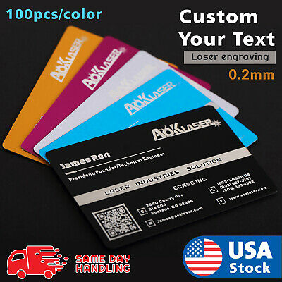 Personalizedcustom Alu Metal Business Cards 100 Pcs Laser Marking Free Design