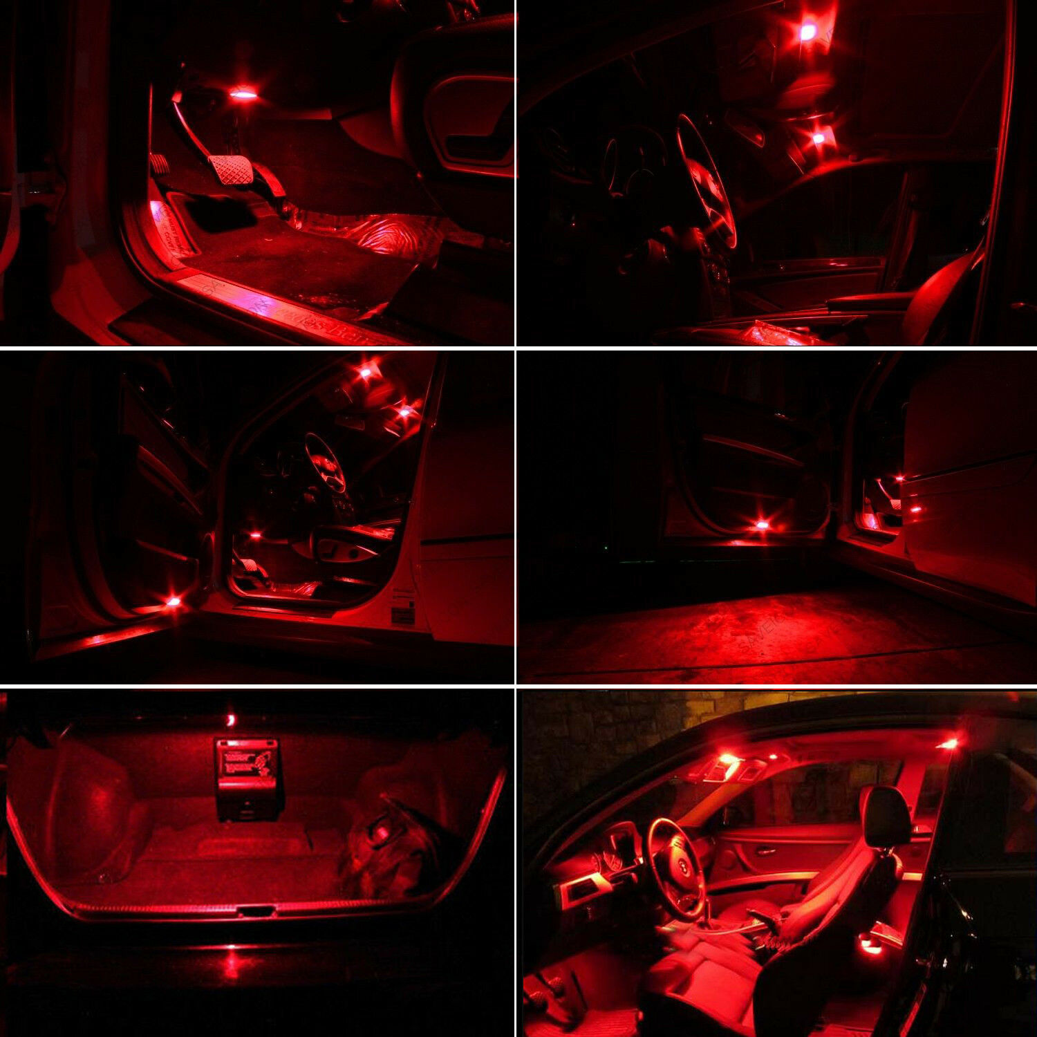 Red Led Interior Lights Package Kit For Pontiac Firebird