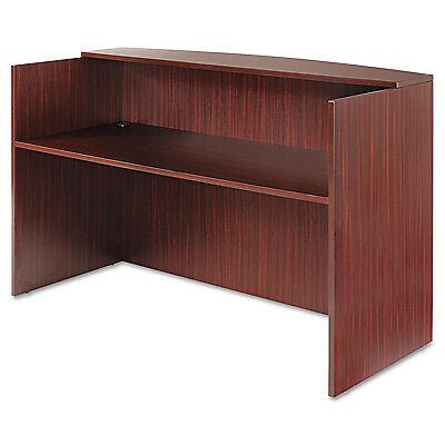 Alera Valencia Series Reception Desk Wcounter71w X 35 12d X 42 12h Mahogany
