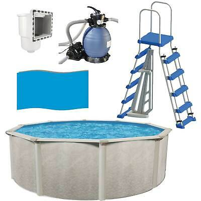 Phoenix 18ft x 52in Above Ground Pool with Sand Filter, Ladder, Liner + Skimmer