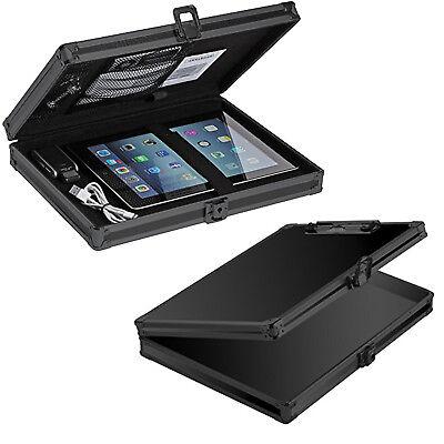 Locking Document Storage Briefcase Aluminum Frame Clipboard Hard Solid Clip Case