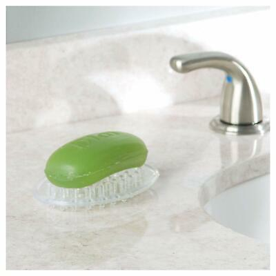 InterDesign Soap Savers Dish Holder Oval Shaped W Drainage Bumps Spikes Bath