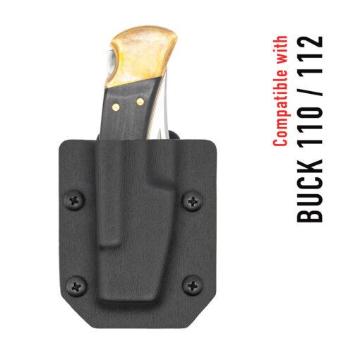 Clip & Carry Kydex Sheath for the Buck 110/112 Folding Knife - USA Made
