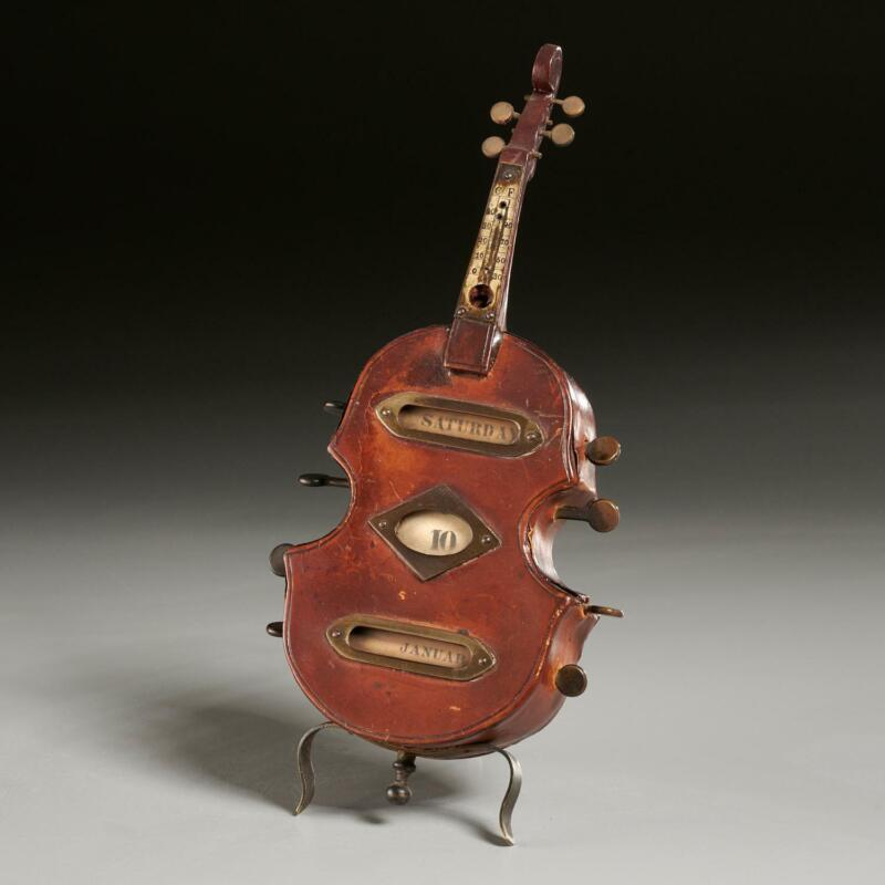 Violin-Shaped Calendar and Thermometer (LEATHER)