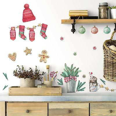 ll Decals 50 Gingerbread Man Stockings Ornaments Stickers  (Classic Christmas Stockings)
