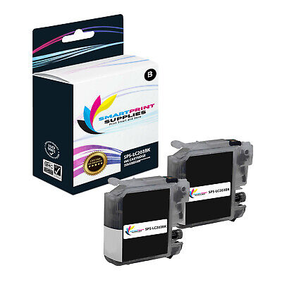 2PK SPS LC203 Black Compatible for Brother MFC-J480DW J485DW Ink Cartridge