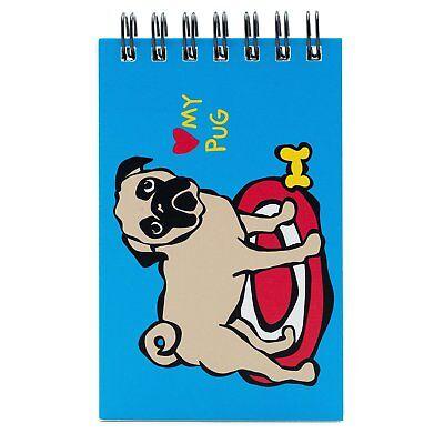 Marc Tetro Pug Spiral Small Notebook / Sketchbook 'Love My Pug'