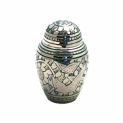 - Well Lived™ Small Brass Light Green Keepsake Cremation Urn for human ashes